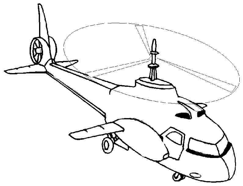 parts of a helicopter colouring pages