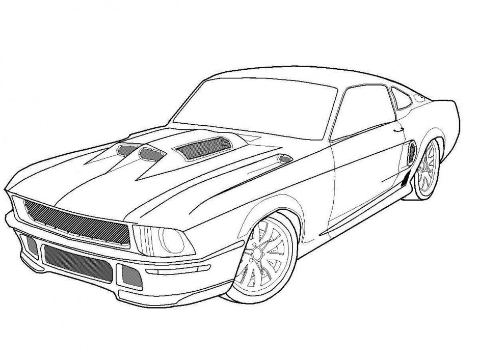 muscle car coloring page coloring pages amp pictures imagixs