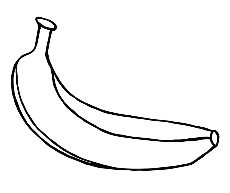 print these banana coloring pages for free banana coloring pages
