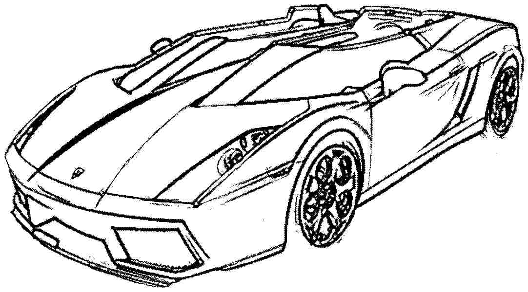 sportcars colouring pages