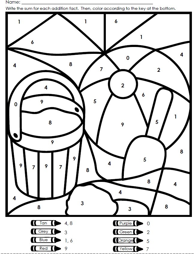 color by number printable worksheets az coloring pages