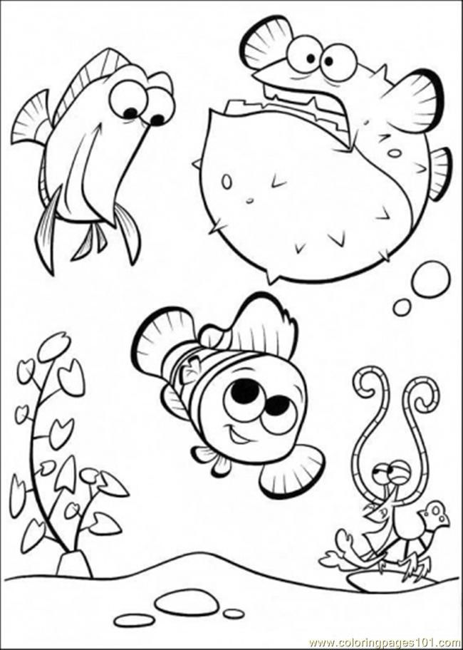 cartoon fish coloring pages az coloring pages