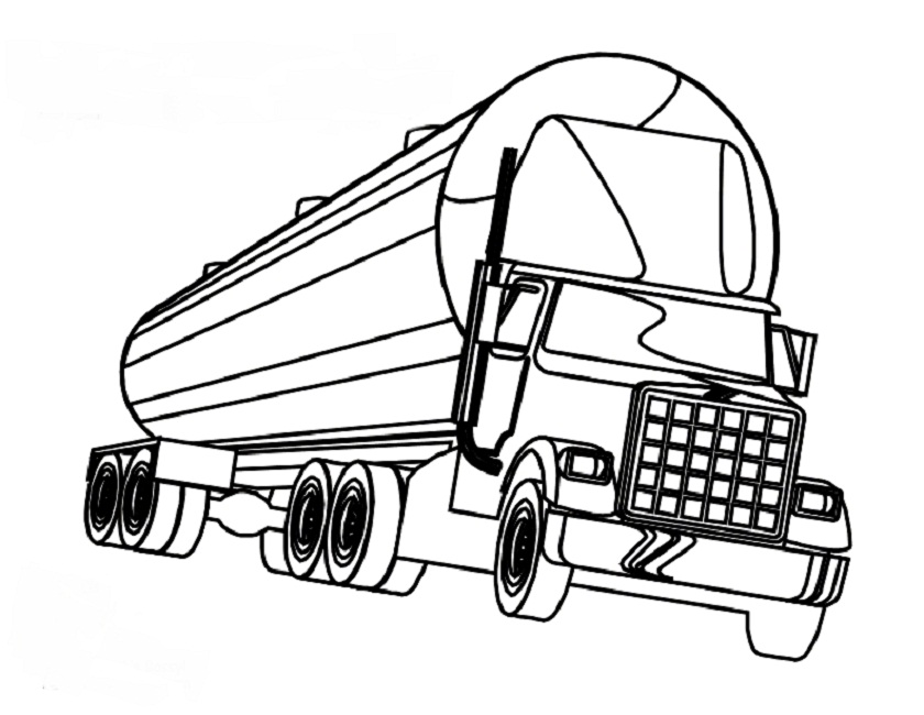 pin semi truck coloring page picture super on pinterest