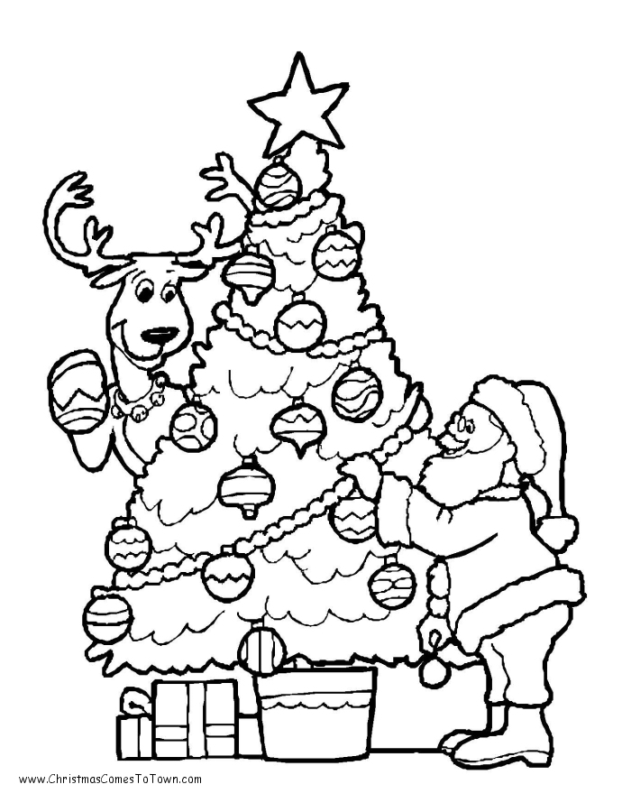 christmas tree coloring pages free christmas coloring pages