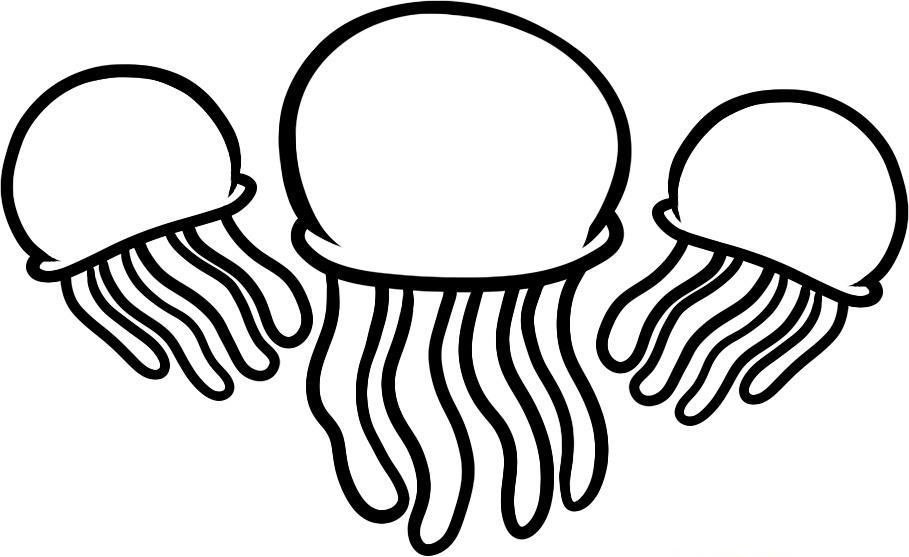 jellyfish coloring pages to print az coloring pages