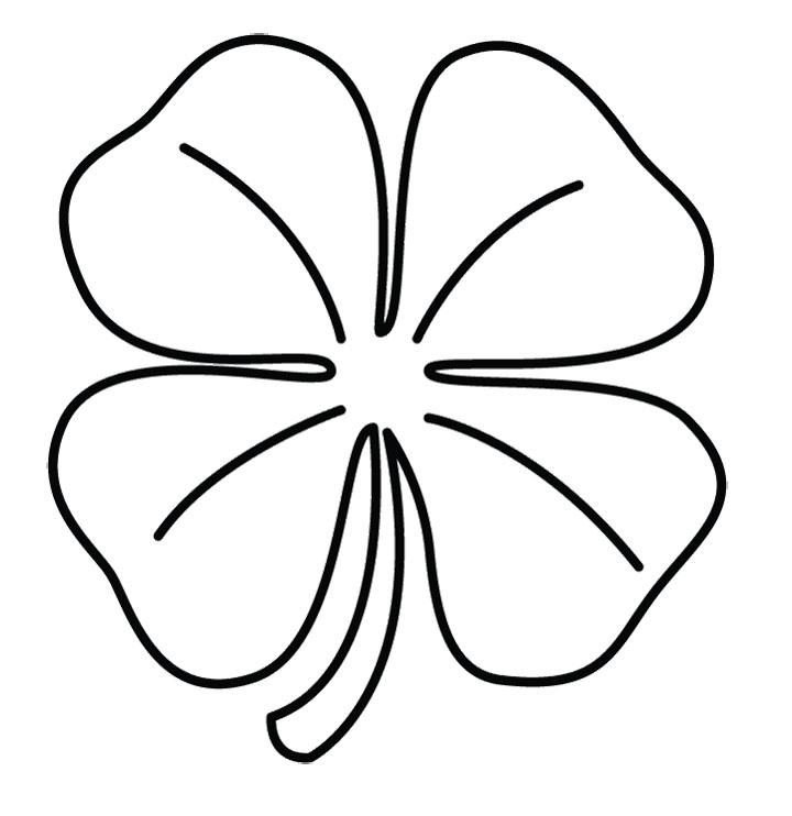 printable 4 leaf clover az coloring pages
