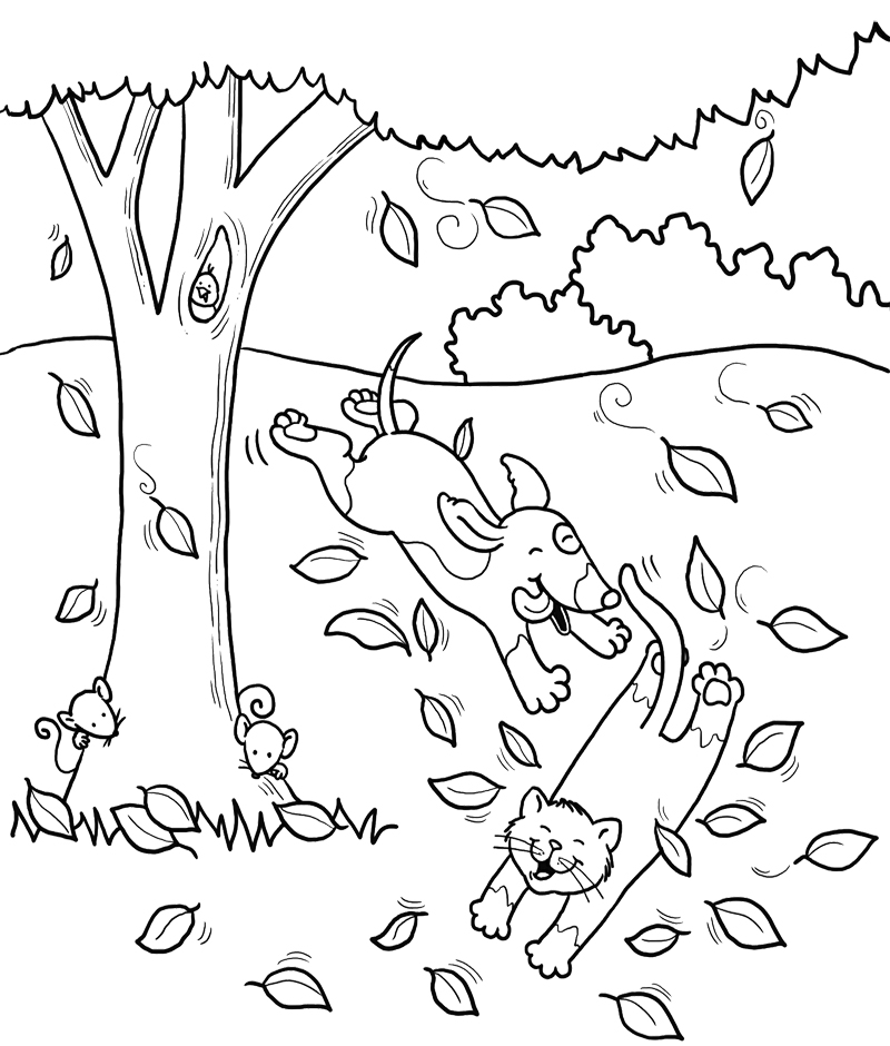 dog and cat coloring pages az coloring pages