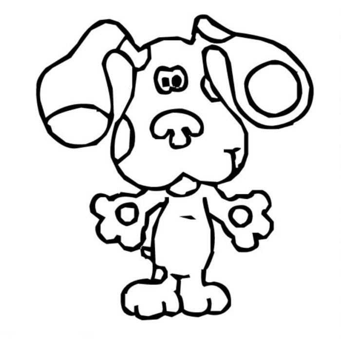 blues with tounge blues clues coloring page tv show coloring