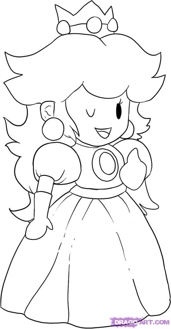 mario and peach coloring pages az coloring pages