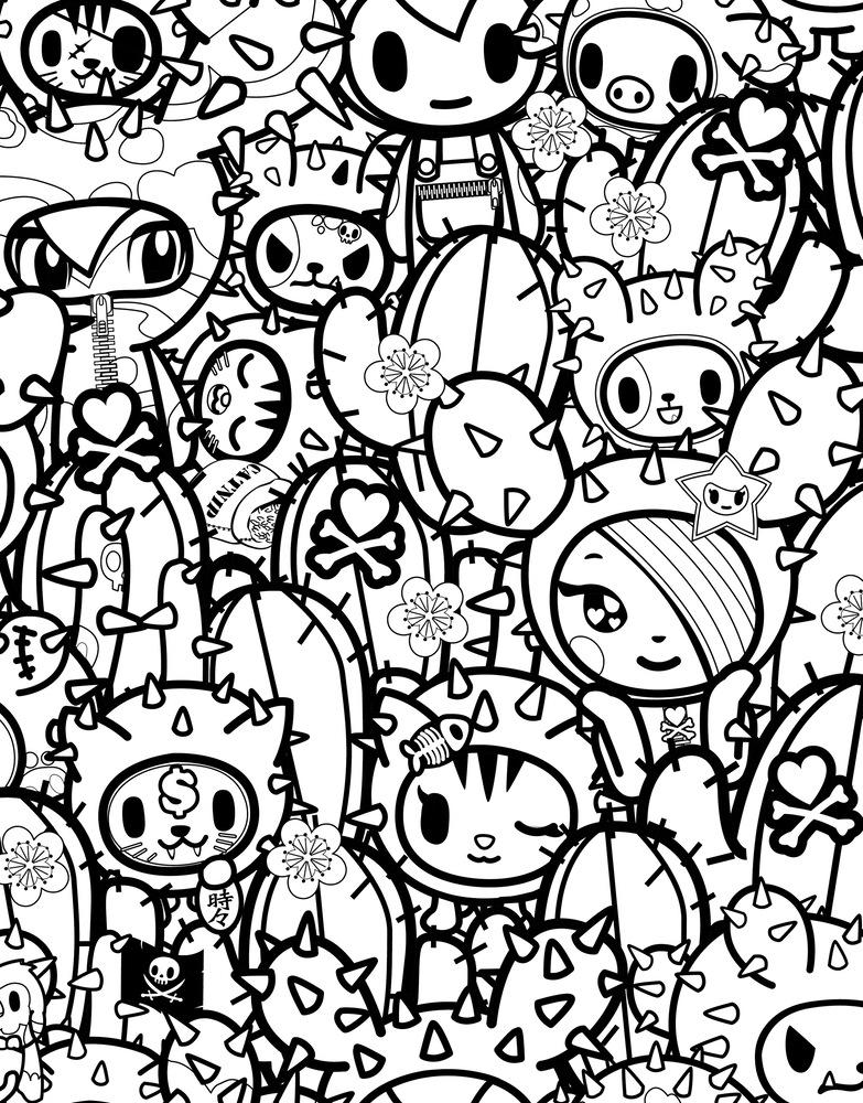 tokidoki coloring pages az coloring pages