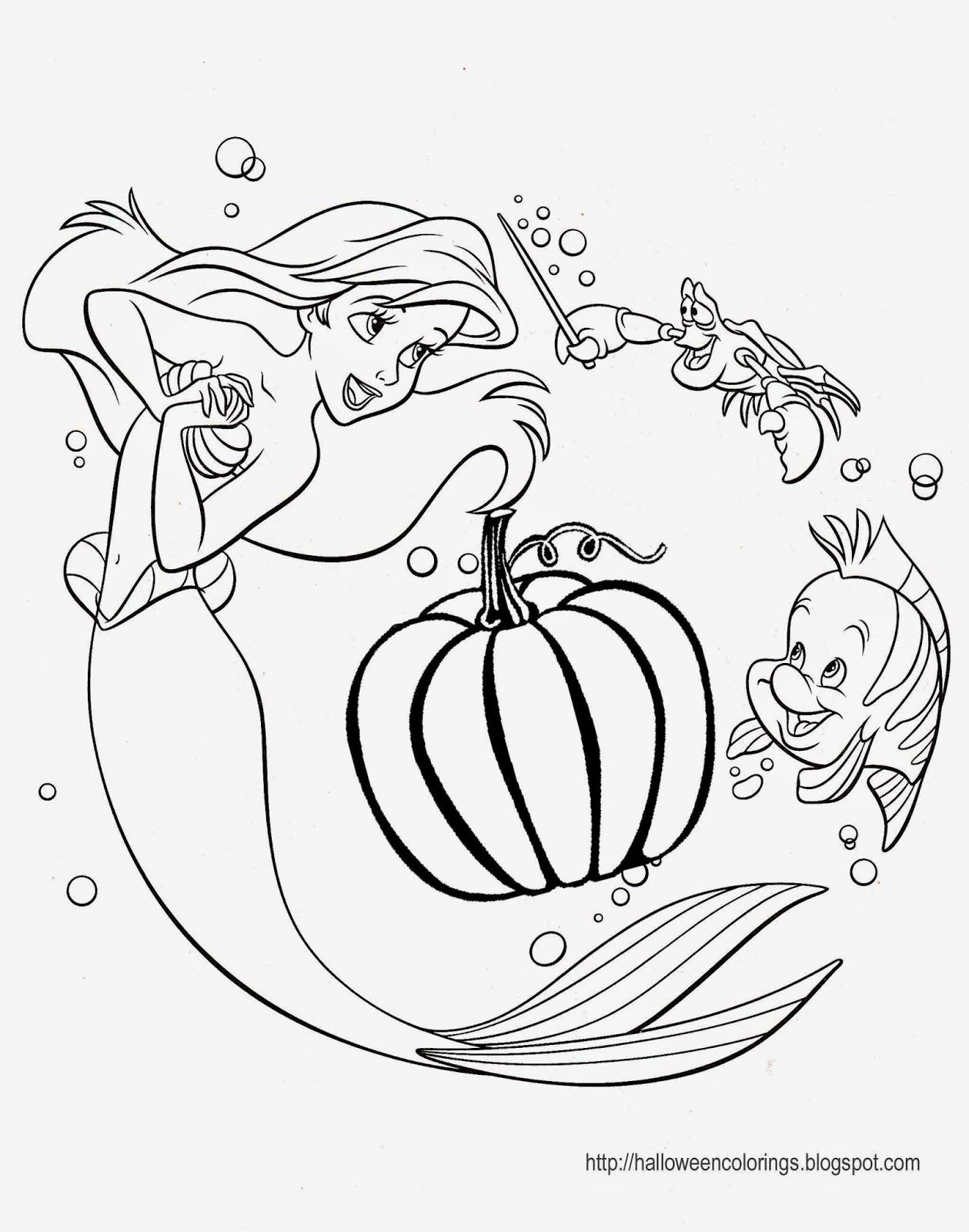Halloween Princess Coloring Pages