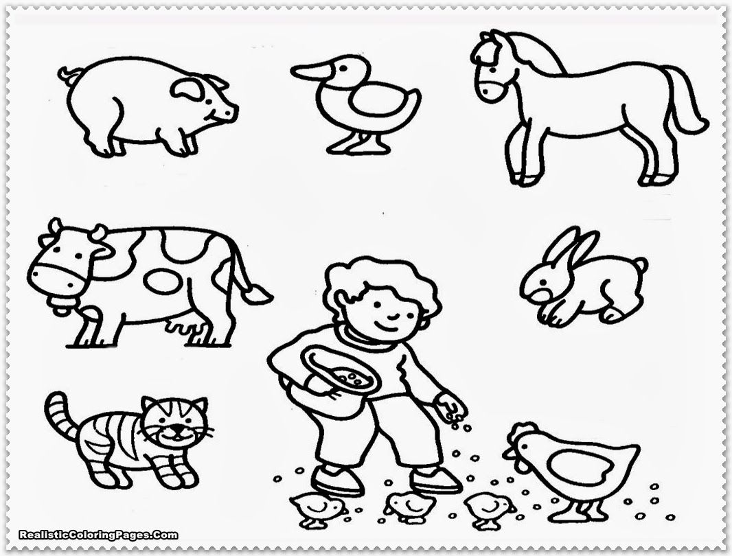 Farm Coloring Pages For Preschool