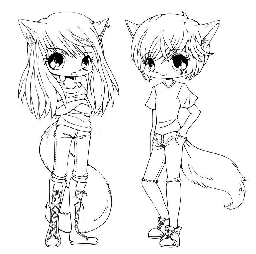 anime emo wolf girl coloring pages coloring pages for all ages