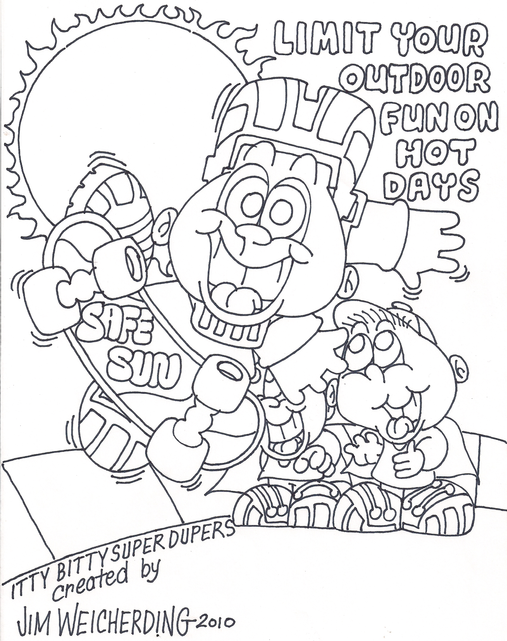 Thunderstorm Dangers Page Coloring Pages