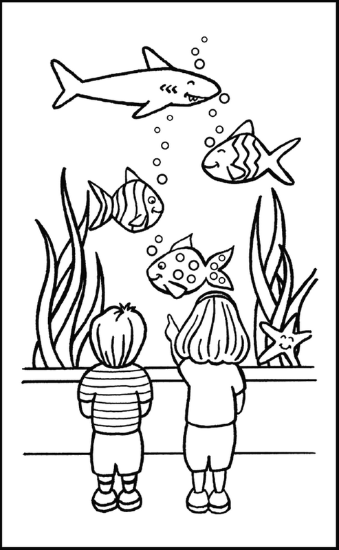 fish tank coloring pages az coloring pages