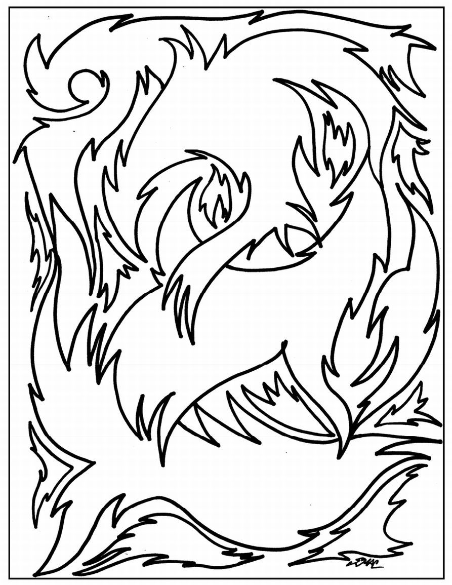 coloring pages abstract designs easy az coloring pages