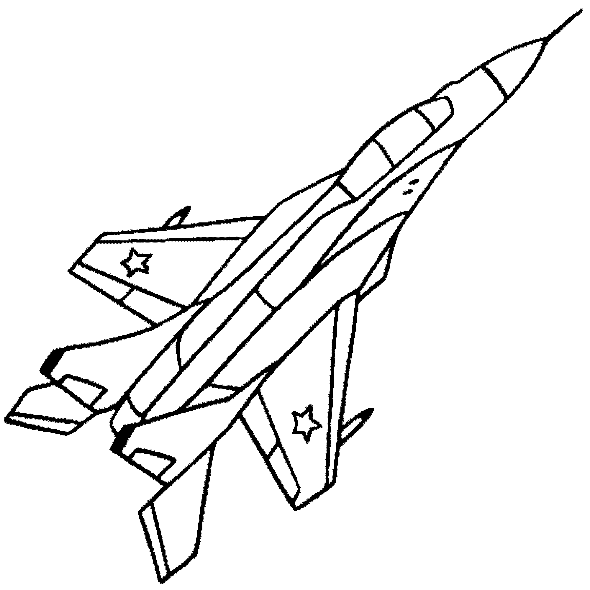 Fighter Jet Coloring Pages Free