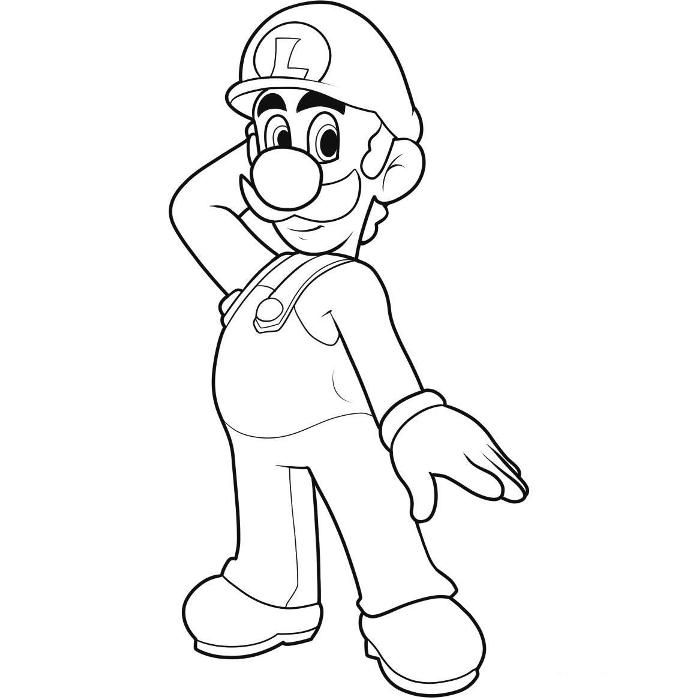 luigi coloring pages to print az coloring pages