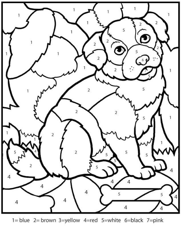 color by number dinosaur az coloring pages