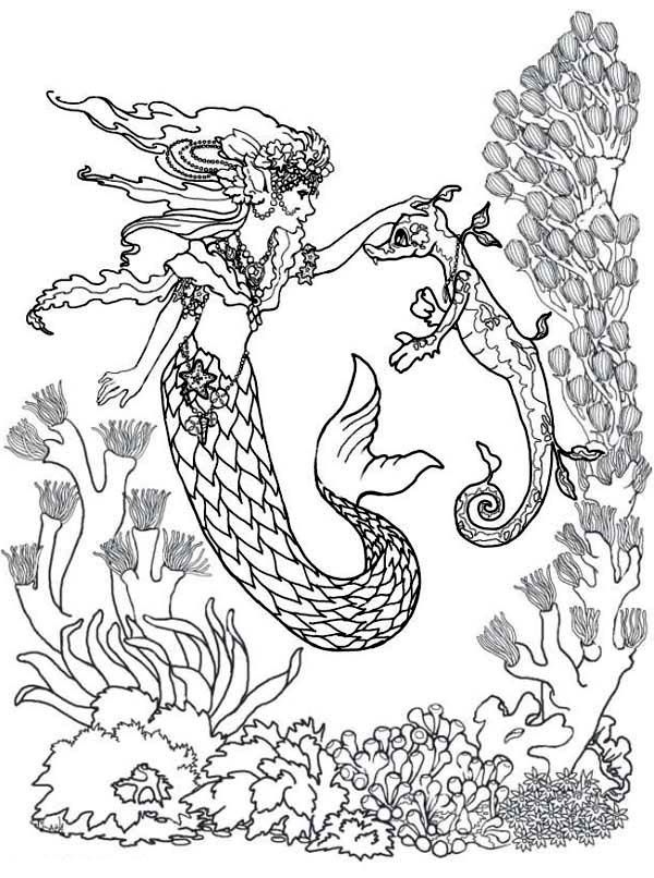 adult coloring pages mermaid az coloring pages