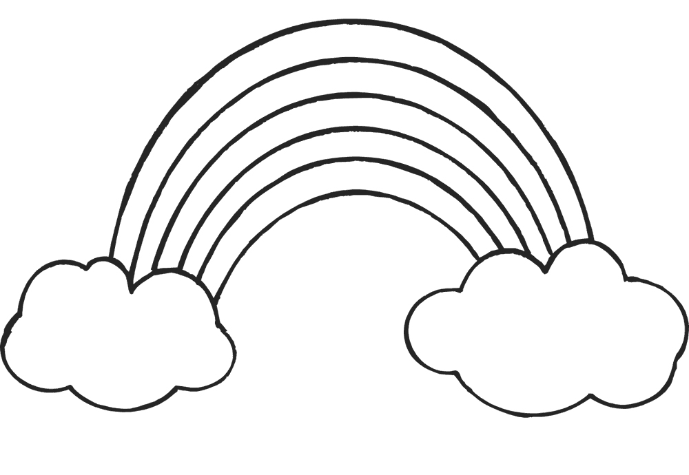coloring pages rainbow pot of gold rainbow and pot of gold