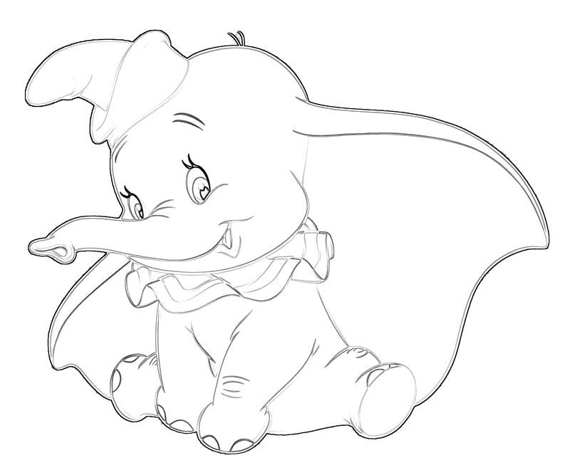 baby dumbo coloring pages coloringpage dumbo coloring pages 51