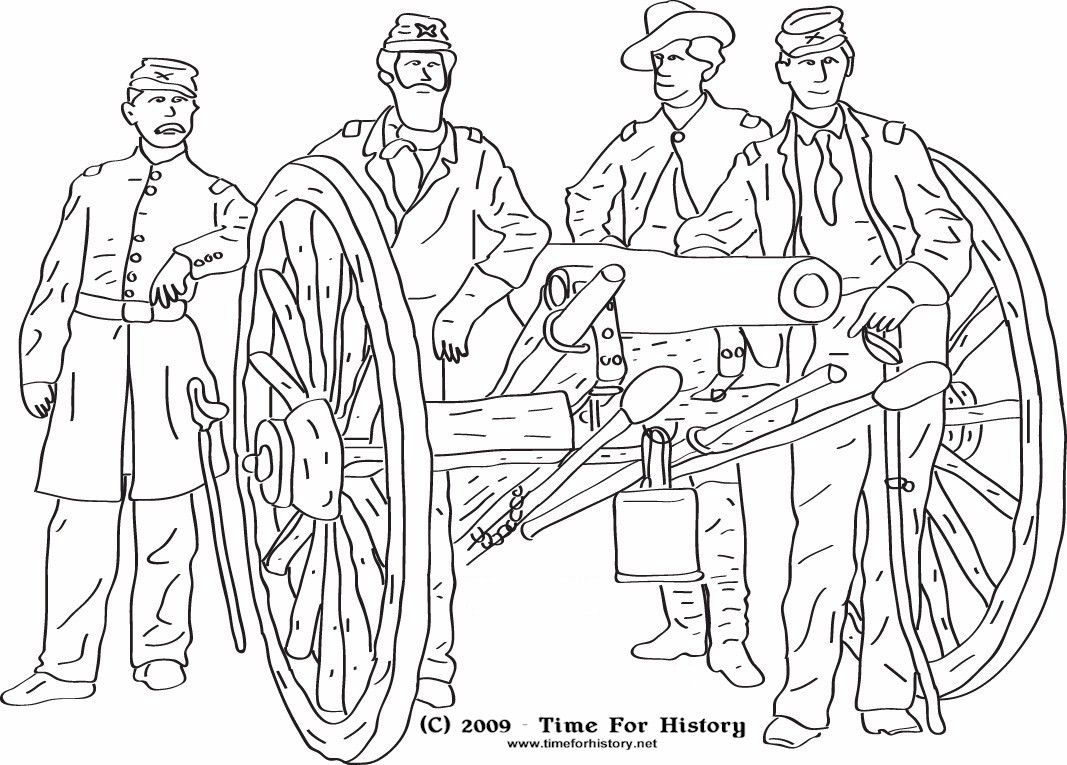civil war coloring pages to print az coloring pages