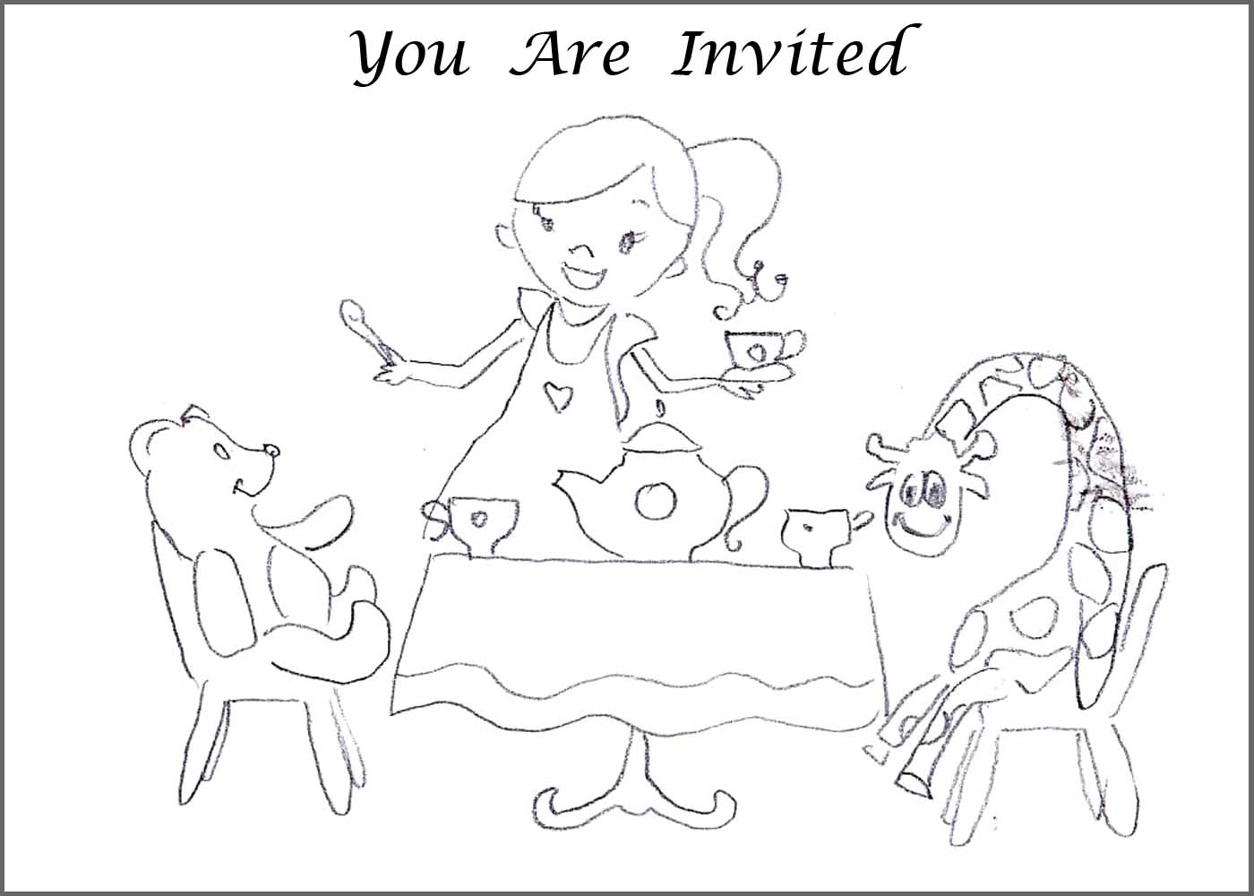 tea party coloring pages print az coloring pages