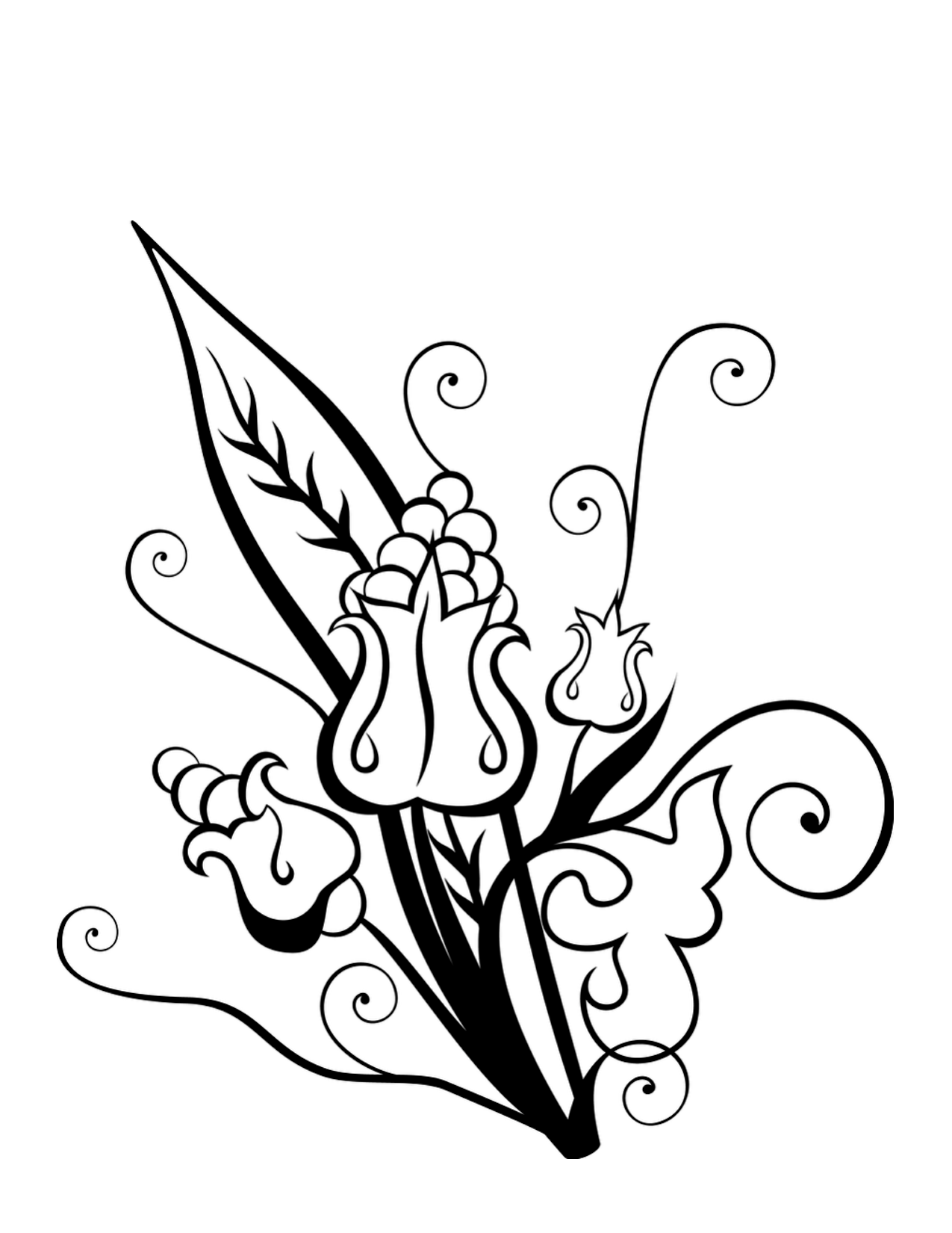 Hawaii Flower Coloring Page