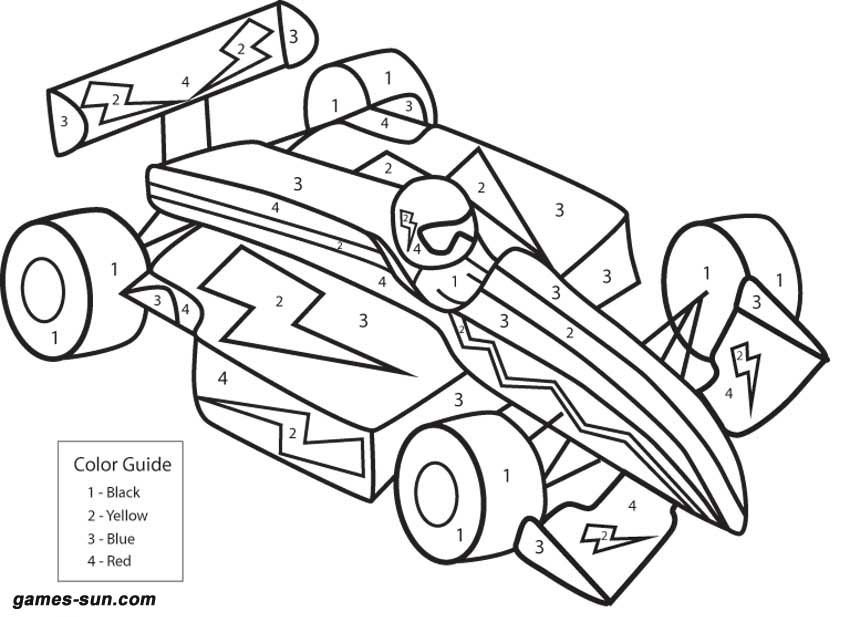 color by numbers for kids az coloring pages
