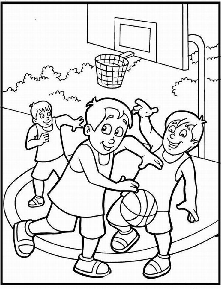 basketball coloring pages for kids az coloring pages
