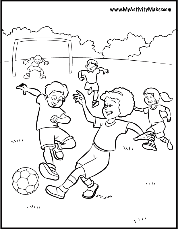 coloring pages sports soccer cooloring com