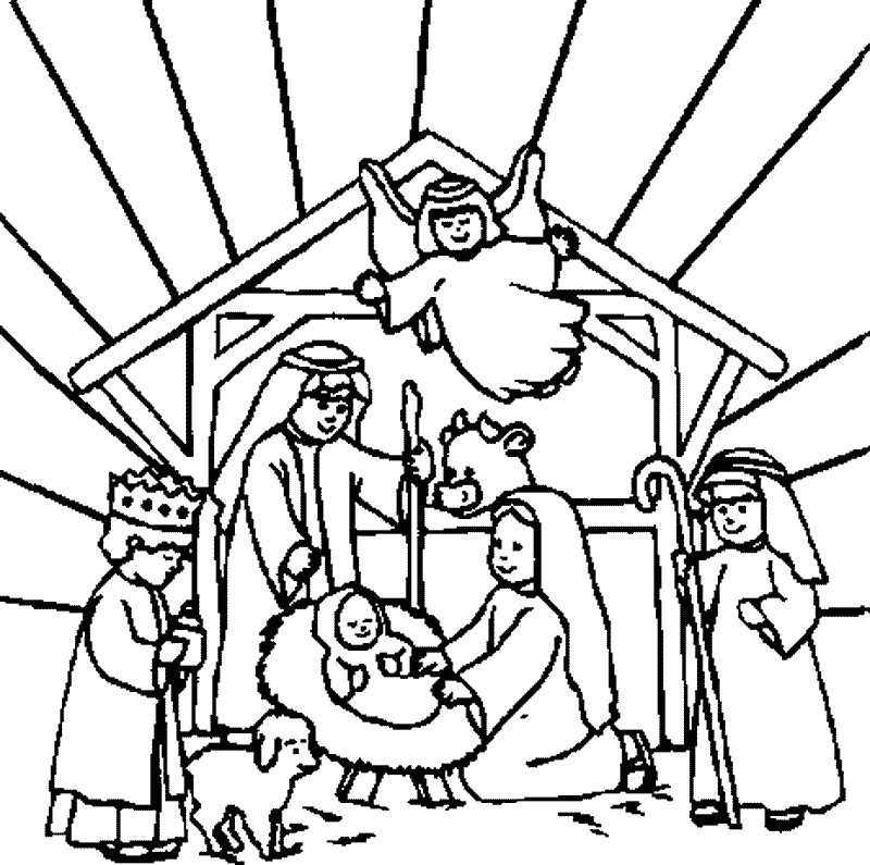 nativity coloring pages free printable download coloring pages hub