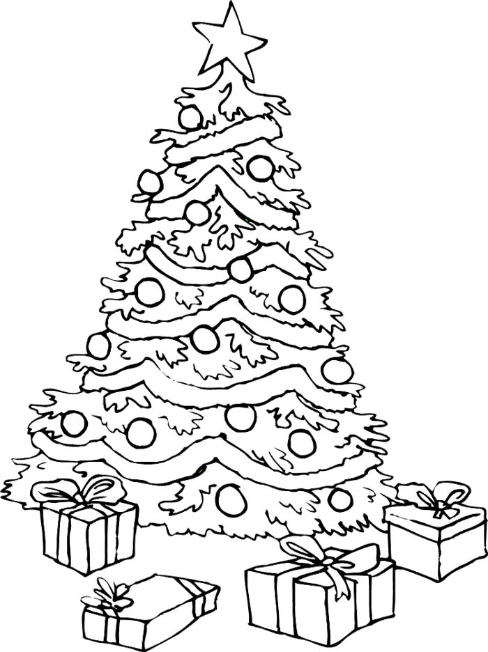 gift under christmas tree coloring page christmas coloring pages