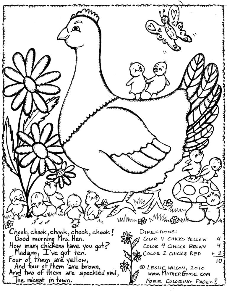 Classic Mother Goose Nursery Rhymes Coloring Pages | Classic Kids ... | 984x768