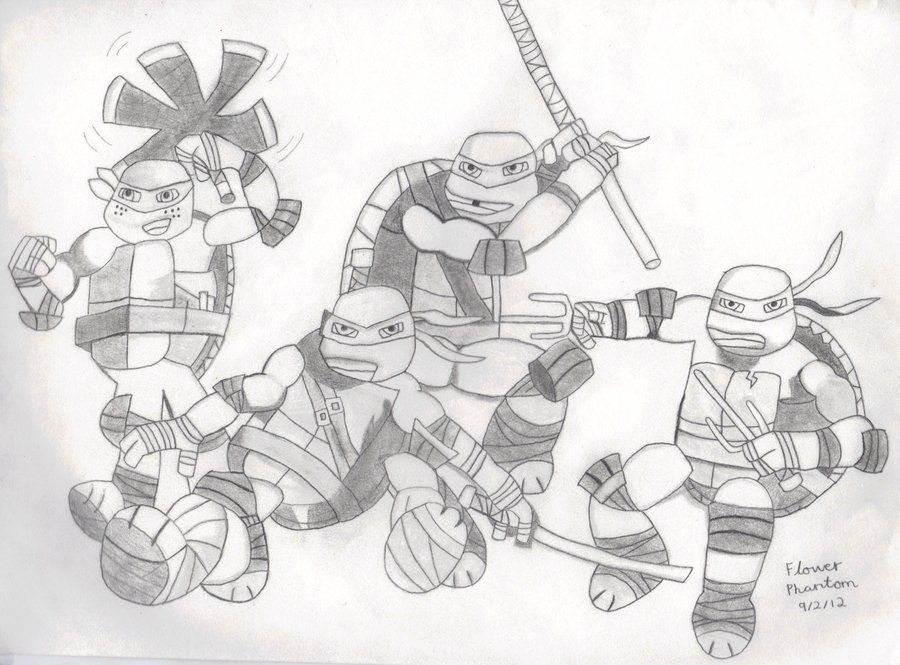 classic ninja turtle coloring pages az coloring pages