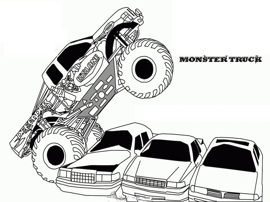 This is a photo of Free Printable Monster Truck Coloring Pages with max d