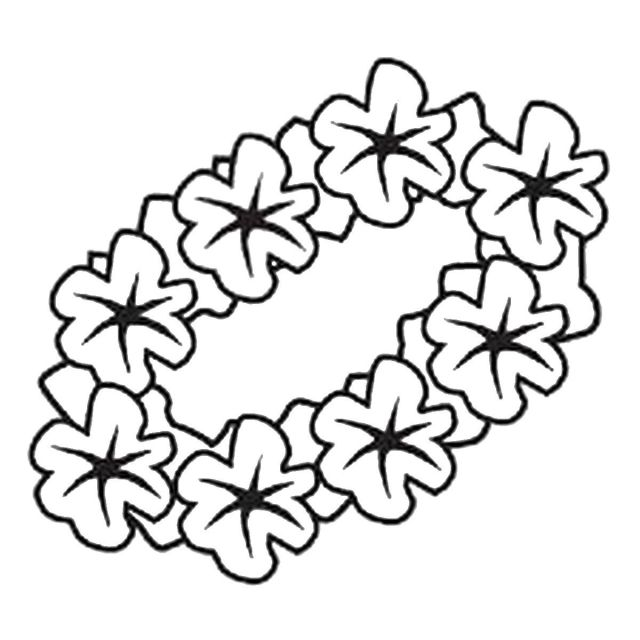 Luau themed coloring pages