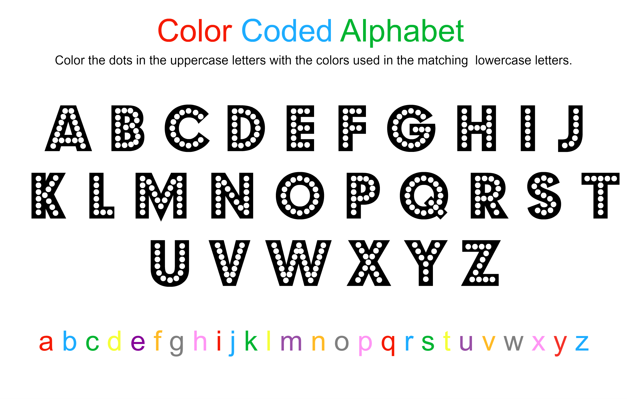 Coloring Pages Color Coded To Print