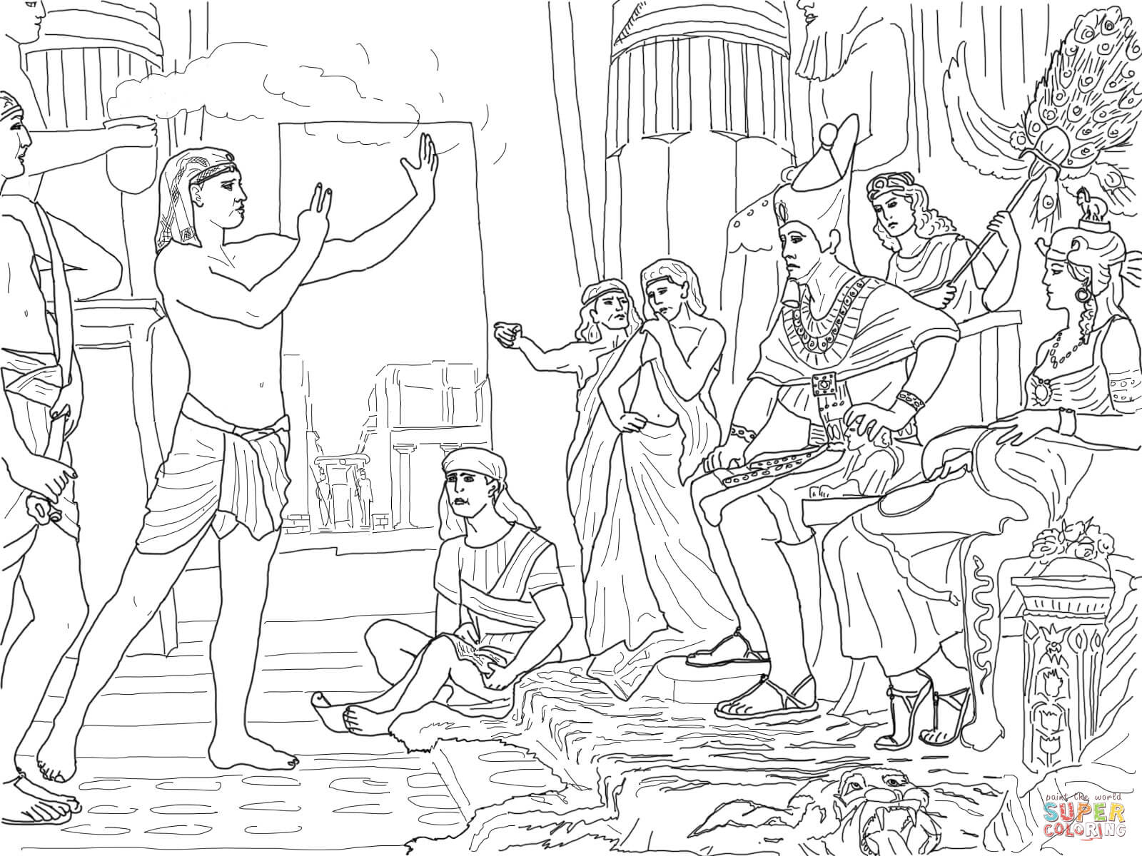 Joseph And Pharaoh Coloring Page