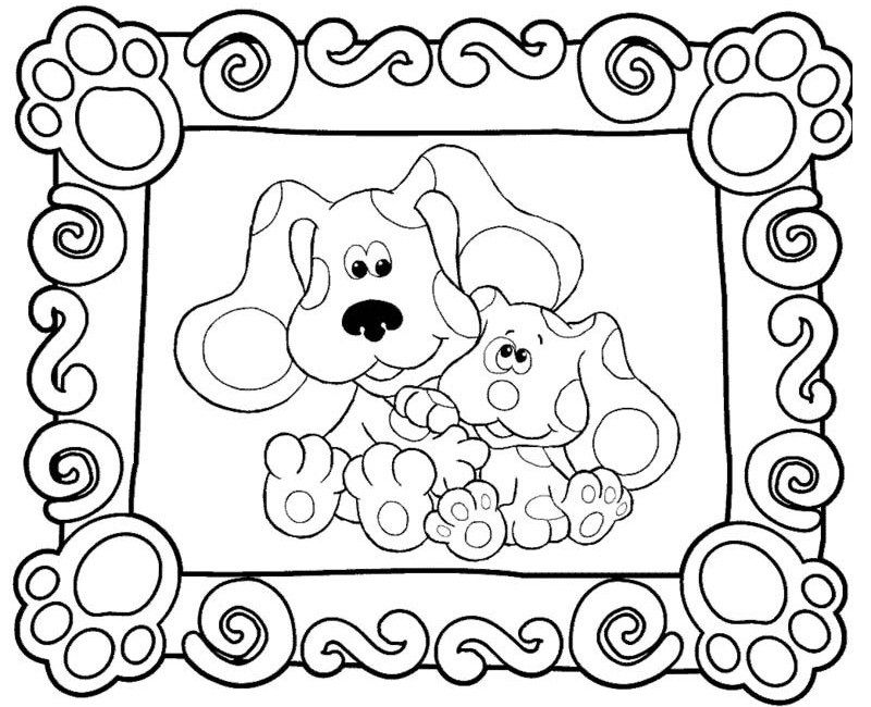 blue clues coloring pages to print az coloring pages