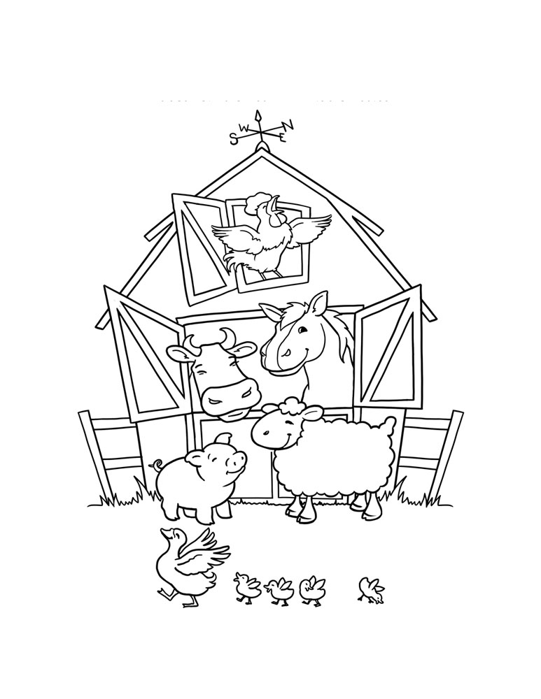 barn animals coloring pages for free barn animals coloring pages