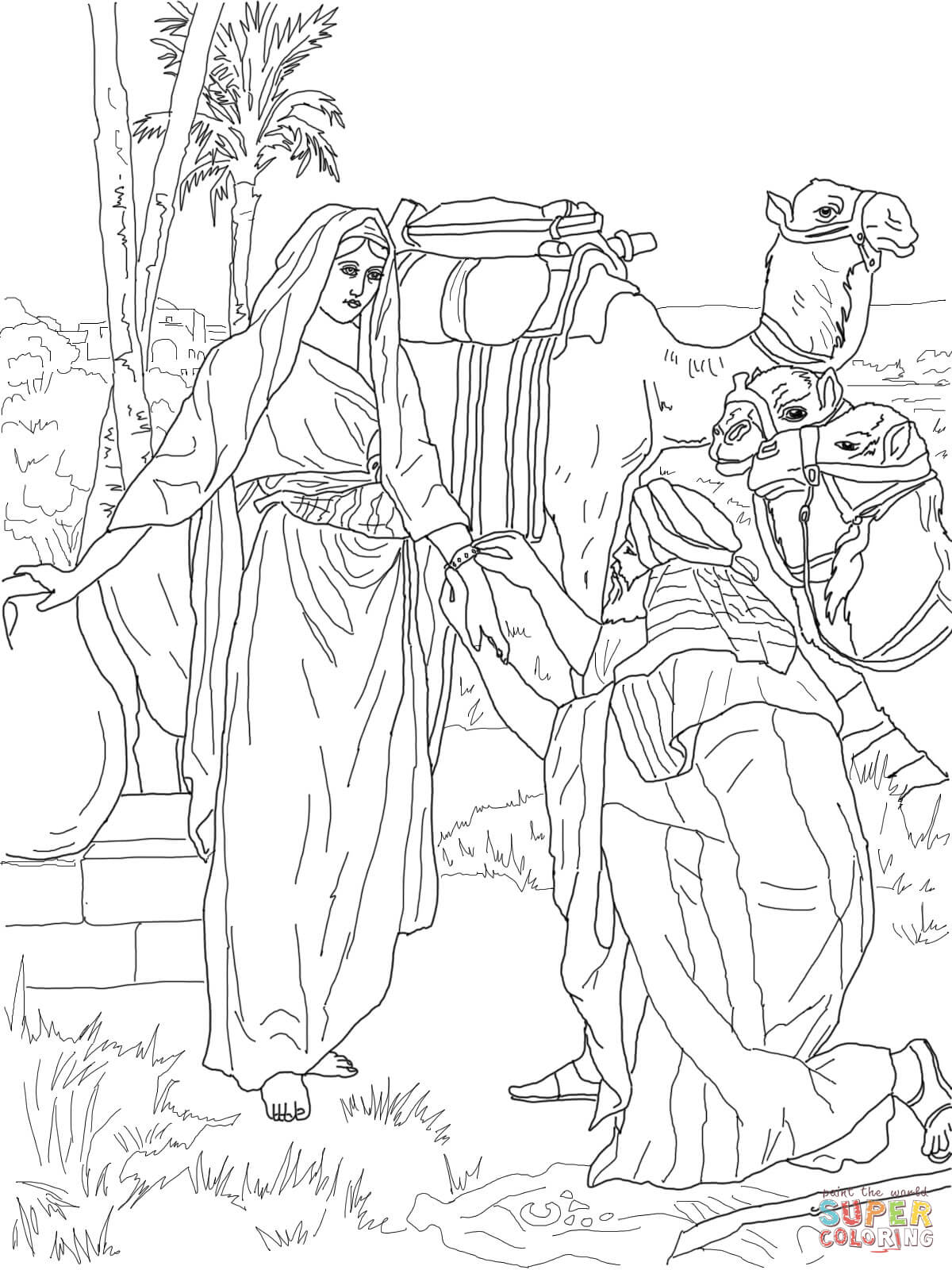 Baby Moses Coloring Page