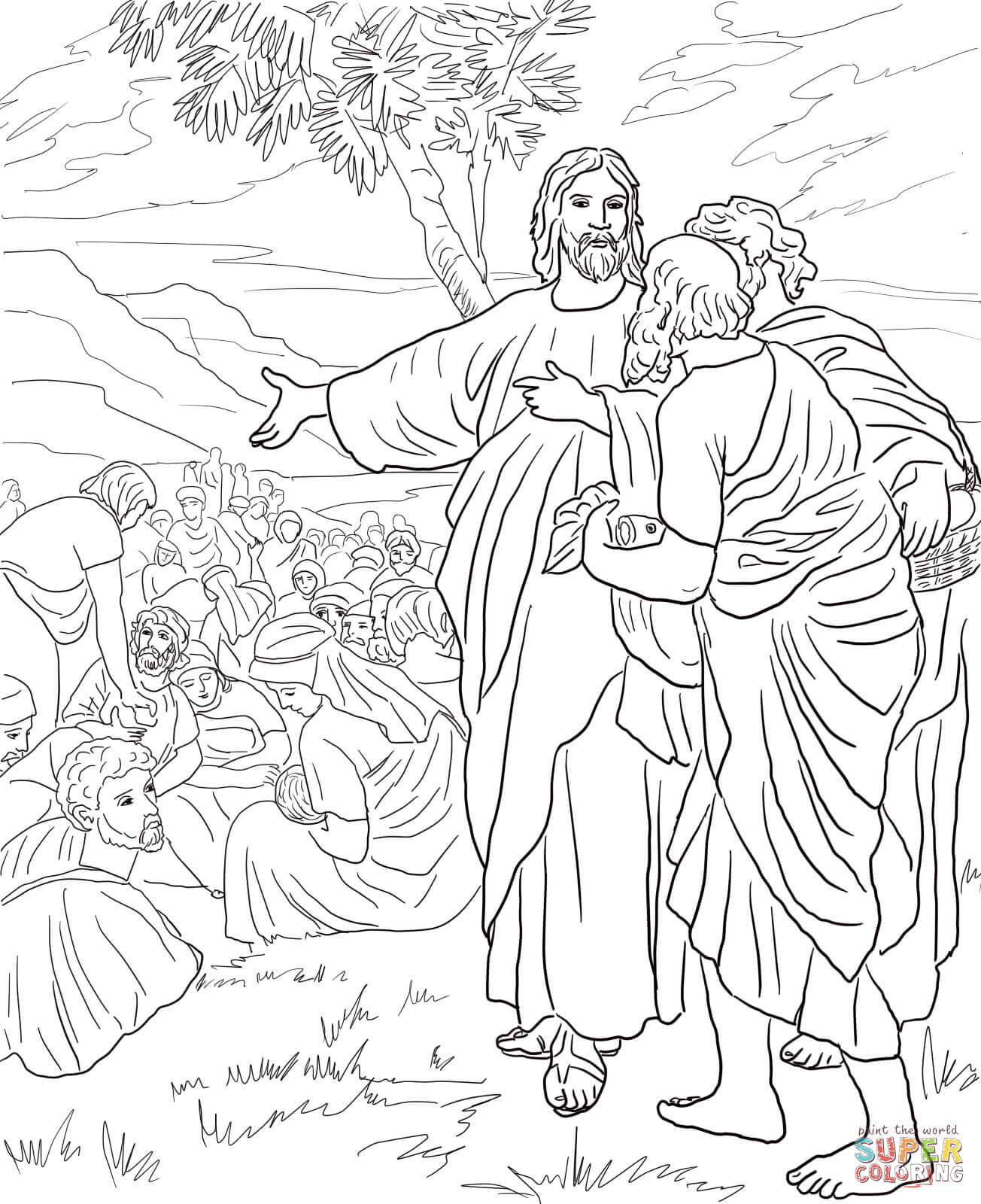 Feeding The Coloring Page