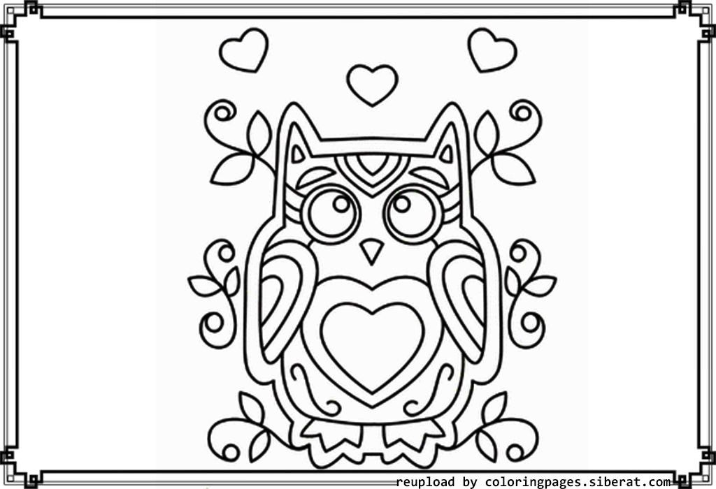 cute owl coloring pages to print az coloring pages
