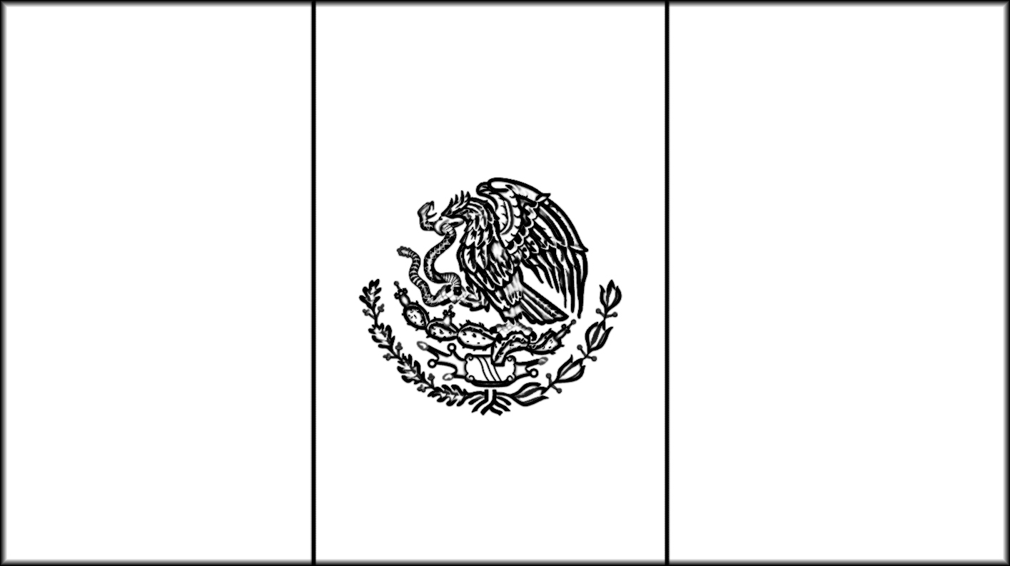 Mexico Flag Coloring Pages