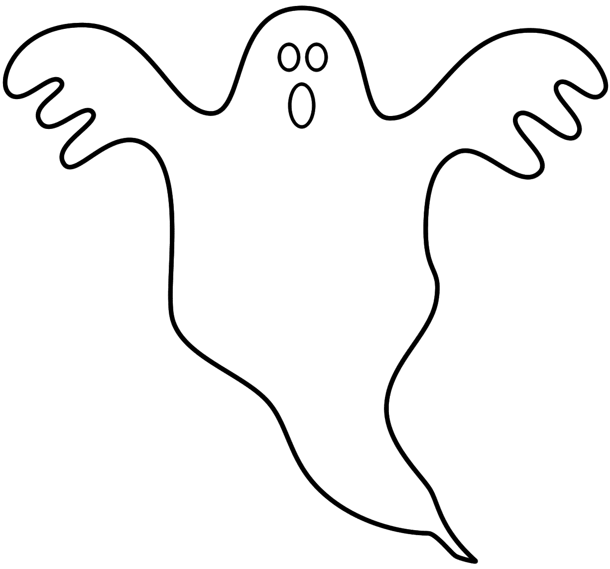 Ghost Kids Coloring Pages