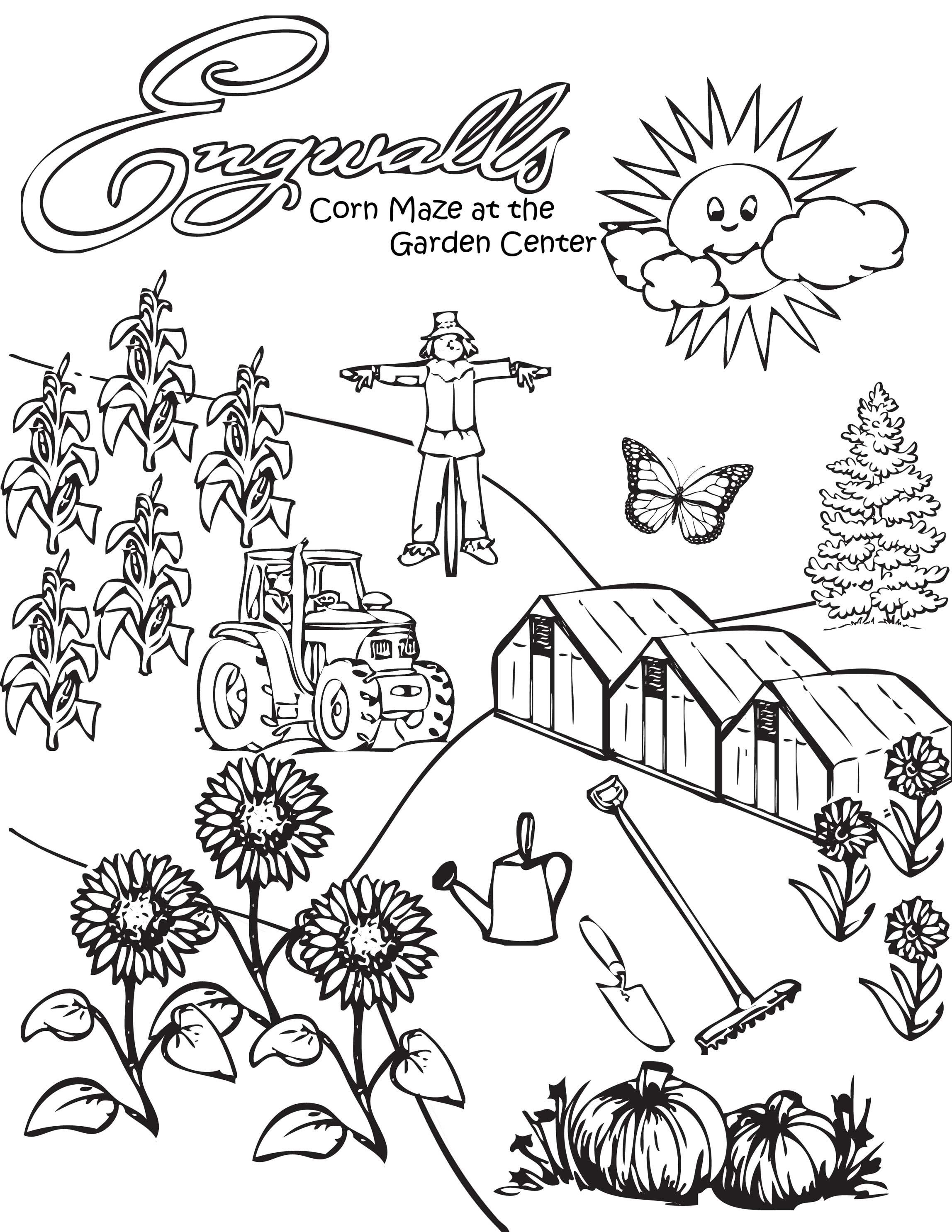 corn plant coloring page google search coloring pages corn