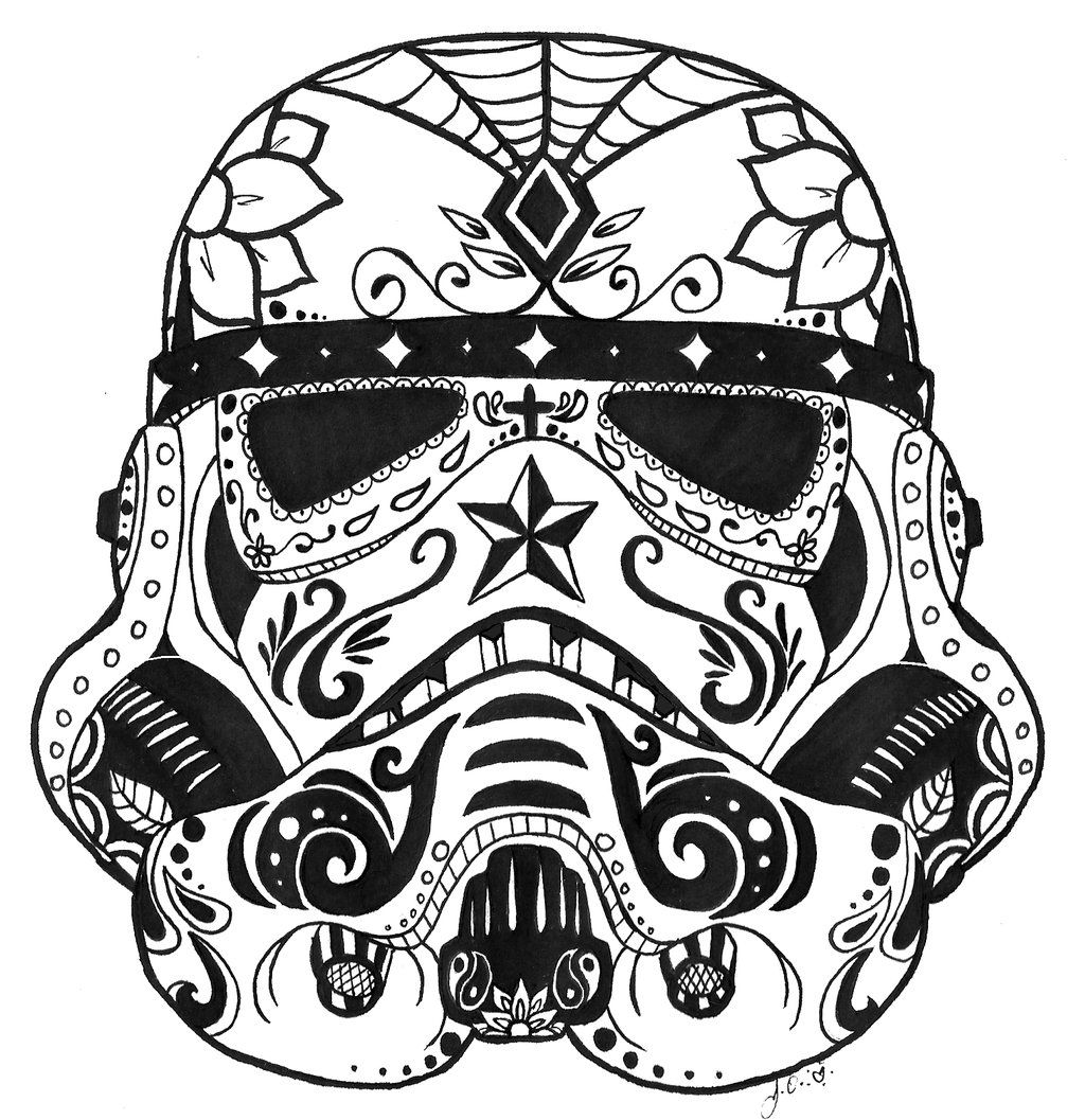 13 pics of star wars sugar skulls coloring pages star wars sugar
