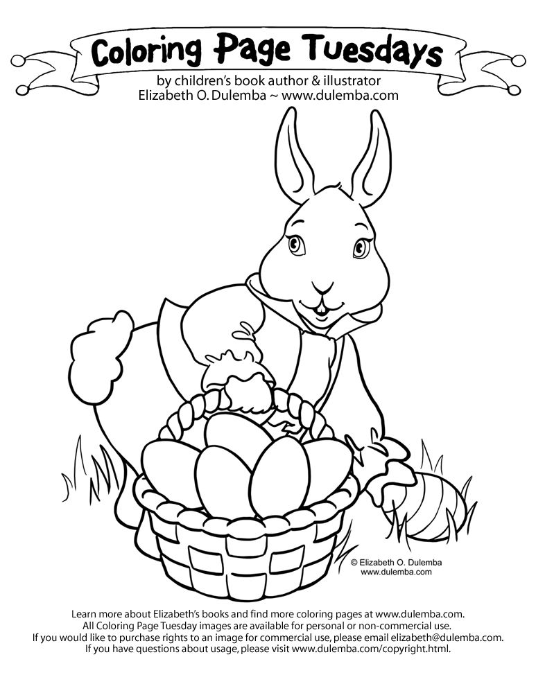 easter bunny color pages az coloring pages